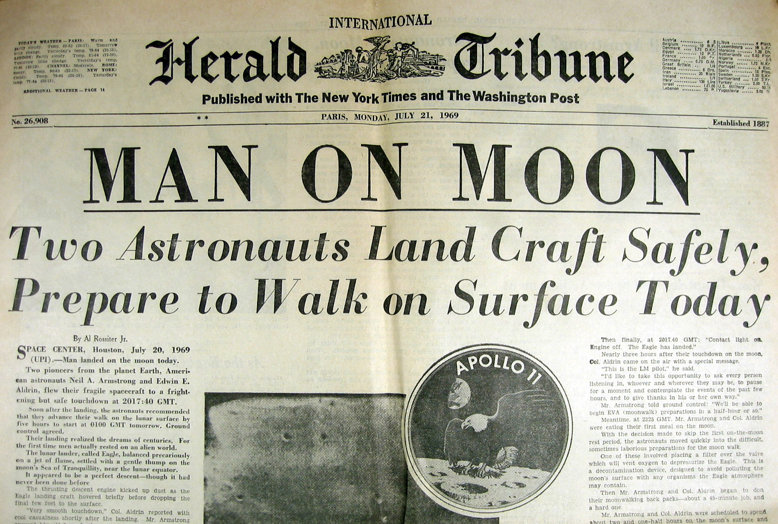 moon landing newspaper - photo #27